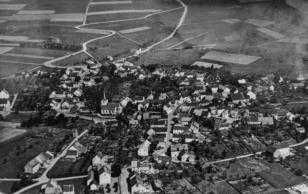 Luftansicht historisches Lommersdorf